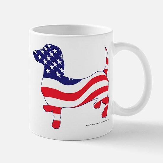 Patriotic Wiener Dachshund Mug