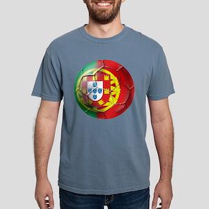 Portuguese Football Soccer Mens Comfort Colors Shi