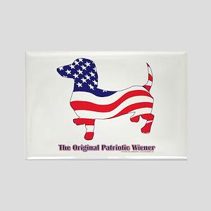 Original Patriotic Wiener Dac Rectangle Magnet