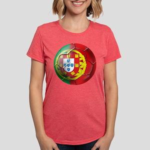 Portuguese Football Soccer Womens Tri-blend T-Shir