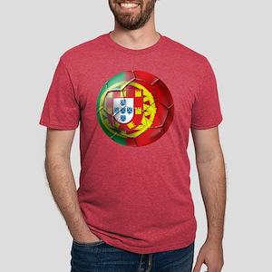 Portuguese Football Soccer Mens Tri-blend T-Shirt