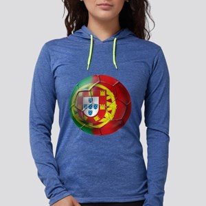 Portuguese Football Soccer Womens Hooded Shirt