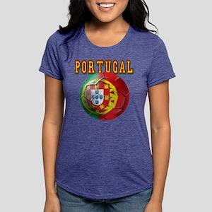 Portugal Soccer Futebol Womens Tri-blend T-Shirt