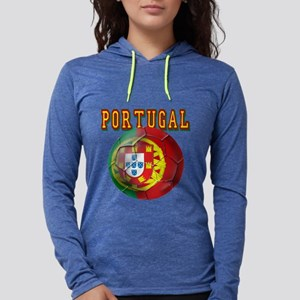 Portugal Soccer Futebol Womens Hooded Shirt