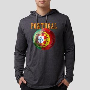 Portugal Soccer Futebol Mens Hooded Shirt