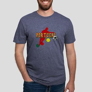 Portugal Soccer Player Mens Tri-blend T-Shirt