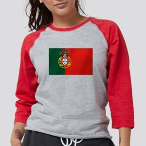 Portugal Football Flag Womens Baseball Tee