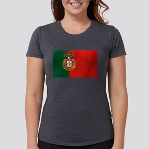 Portugal Football Flag Womens Tri-blend T-Shirt
