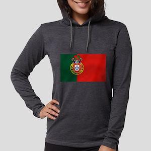 Portugal Football Flag Womens Hooded Shirt
