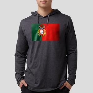 Portugal Football Flag Mens Hooded Shirt