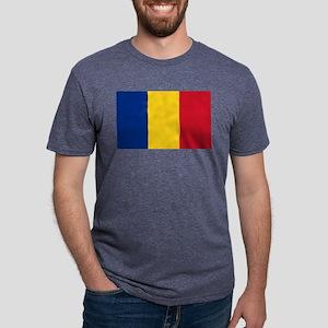 Romanian Flag Mens Tri-blend T-Shirt