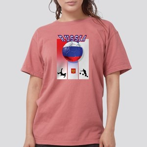 Russian Football Womens Comfort Colors Shirt