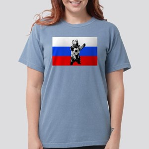 Russian Football Flag Womens Comfort Colors Shirt