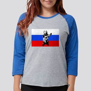 Russian Football Flag Womens Baseball Tee
