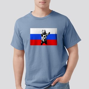 Russian Football Flag Mens Comfort Colors Shirt