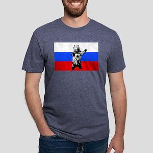 Russian Football Flag Mens Tri-blend T-Shirt