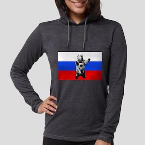 Russian Football Flag Womens Hooded Shirt