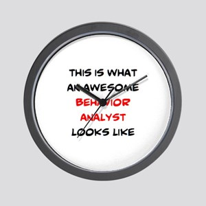 awesome behavior analyst Wall Clock