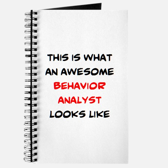 awesome behavior analyst Journal