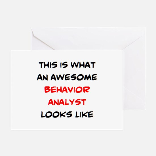 awesome behavior analyst Greeting Card
