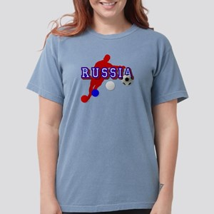 Russia Soccer Player Womens Comfort Colors Shirt