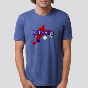 Russia Soccer Player Mens Tri-blend T-Shirt