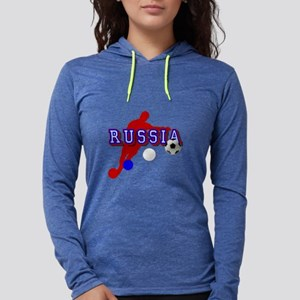 Russia Soccer Player Womens Hooded Shirt