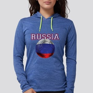 Russian Football Womens Hooded Shirt