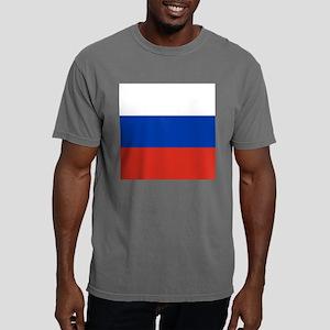 Flag of Russia Mens Comfort Colors Shirt