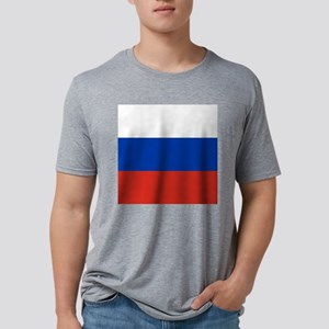 Flag of Russia Mens Tri-blend T-Shirt