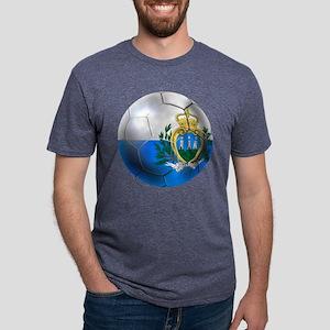San Marino Football Mens Tri-blend T-Shirt