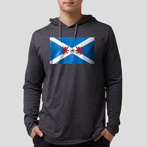 Scottish Football Flag Mens Hooded Shirt