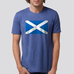 Scottish Flag Mens Tri-blend T-Shirt