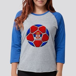 Serbia Soccer Football Womens Baseball Tee