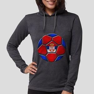 Serbia Soccer Football Womens Hooded Shirt