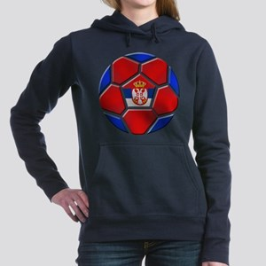 Serbia Soccer Football Women's Hooded Sweatshirt