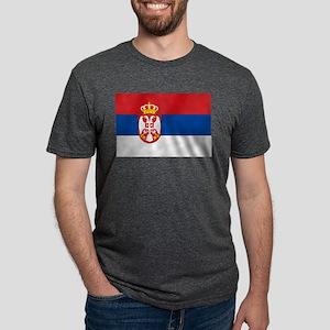 Flag of Serbia Mens Tri-blend T-Shirt