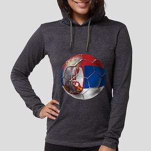 Serbian Football Womens Hooded Shirt
