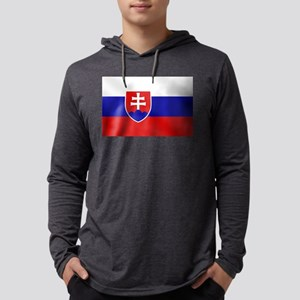 Flag of Slovakia Mens Hooded Shirt