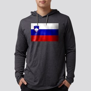 Flag of Slovenia Mens Hooded Shirt