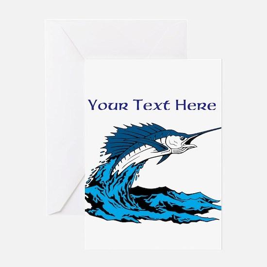 Personalizable Swordfish Design Greeting Card