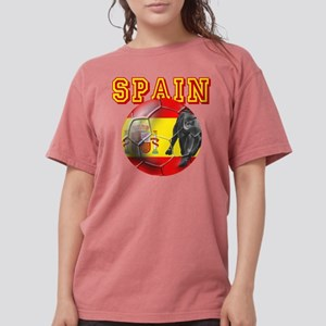Spanish Football Womens Comfort Colors Shirt