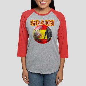 Spanish Football Womens Baseball Tee