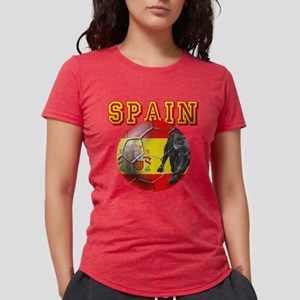 Spanish Football Womens Tri-blend T-Shirt