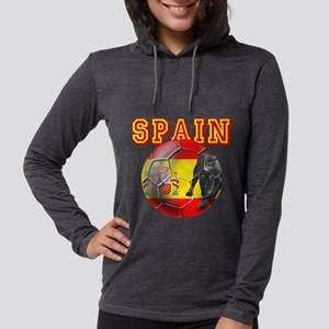 Spanish Football Womens Hooded Shirt