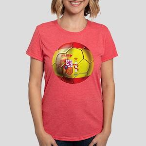 Spanish Futbol Womens Tri-blend T-Shirt