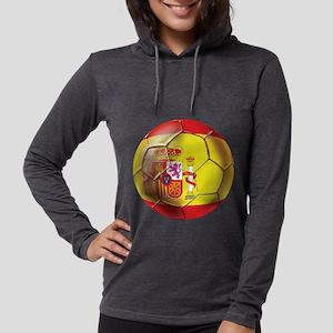 Spanish Futbol Womens Hooded Shirt