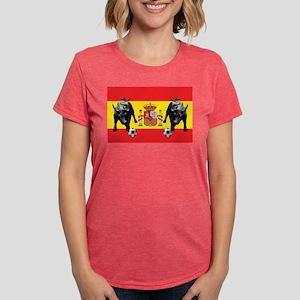 Spanish Football Bull Fla Womens Tri-blend T-Shirt