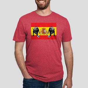 Spanish Football Bull Flag Mens Tri-blend T-Shirt