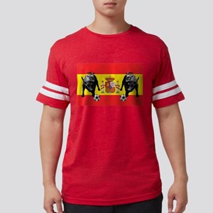 Spanish Football Bull Flag Mens Football Shirt